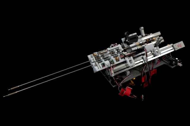 한국과학기술연구원(KIST) 등 국내 연구진이 개발한 미세 수술로봇. - 한국과학기술연구원(KIST) 제공